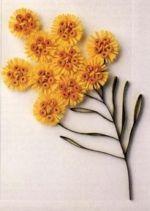 Изготовление цветов из бумажных лент.  Практическое руководство